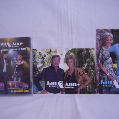 Vand dvd + 2 foto carton diferite ,cu autografe formatia BZN, Jan&Anny, Romana
