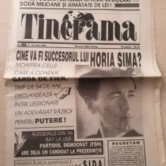 tinerama 4-10 iunie 1993-ziar legionar,director max banus,moartea lui horia sima
