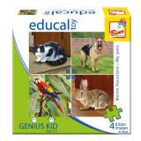 Cumpara ieftin Puzzle cu animale domestice - Bino