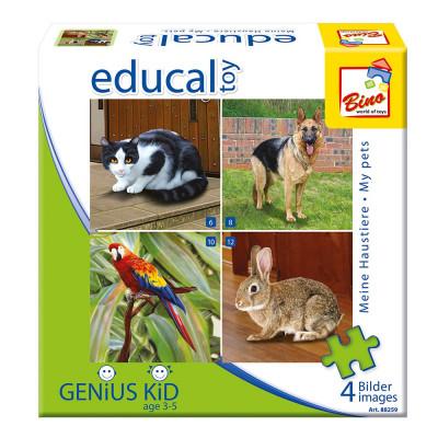 Puzzle cu animale domestice - Bino foto