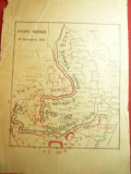 Harta- Fortele Militare Romanesti- Situatia Frontului 12 nov. 1916 ,dim.=16,5x23