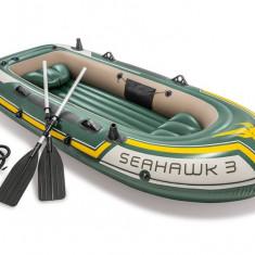 Barca gonflabila Seahawk 3 Intex, 295 x 137 x 43 cm, vasle + pompa inclusa, 68380