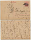 Romania  mai 1918 intreg postal MViR ocupatia germana trimis la Manastirea Neamt