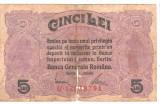 SV * BANCA GENERALA ROMANA * 5 LEI 1917 * Emisa de Guvernul in Exil la Iasi  WWI