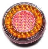 Lampa stop auto rotunda LED cu functii de Pozitie-Stop-Semna