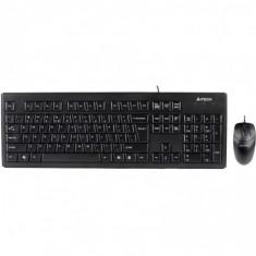 Kit tastatura + mouse a4tech krs-8372 cu fir negru tastatura