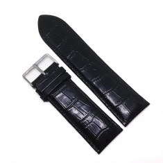 Curea de ceas deBeer PARIS - Handcrafted - Piele Naturala Neagra - 26mm / 28mm - WZ3725