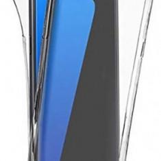Protectie Spate Senno Pure Flex Slim 360 SNNM-360-FULL-TPU-SAS7E-CL pentru Samsung S7 Edge + Protectie Fata (Transparent)