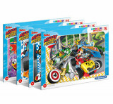 Puzzle Super Color Mickey Roadster Racers, 15 piese, Clementoni