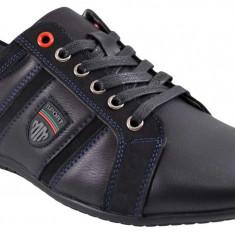 Pantofi Casual Barbatesti negri Moneymaker - MM, 45