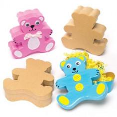 Set 4 cutiute din carton de decorat Ursuleti