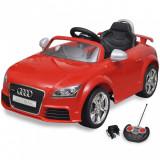 Mașină Audi TT RS pentru copii cu telecomandă, roșu, vidaXL