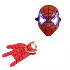Set manusa cu lansator Spiderman si masca LED