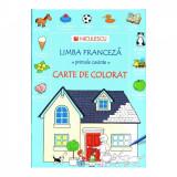 Carte de colorat. Limba franceza - primele cuvinte - Heather Amery, Nicole Irving