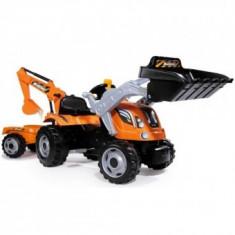 Tractor cu Pedale si remorca Smoby Fun Builder Max