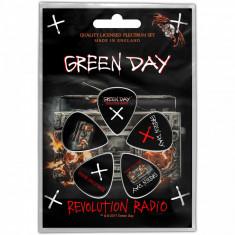Set 5 pene pentru chitara - Greenday Revolution Radio Plectrum Pack | Rock Off