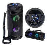 Cumpara ieftin Boxa portabila TWS, 10 W, BT/FM/USB/AUX, 1500 mAh, baterie reincarcabila, LED
