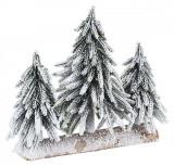 Brazi artificiali zapada artificiala cu suport de lemn Cimone 30x16x27 cm, Bizzotto