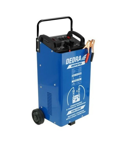 DEDRA Redresor baterie auto cu functie pornire, 12/24V, 40-400Ah DEP070