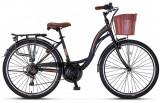 "Bicicleta City Umit Alanya, culoare Negru/Maro, roata 24"", OtelPB Cod:24100000306"