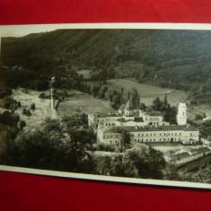 Ilustrata - Manastirea Bistrita- Valcea 1936 foto J.Fischer Sibiu