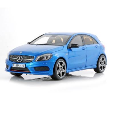 Macheta Auto Norev, MERCEDES BENZ A 250 Sport 2012 Albastru metallic scara 1:18 foto