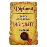 Magnet Diploma pentru Cel mai bun DIRIGINTE din lume, lemn, Alexer