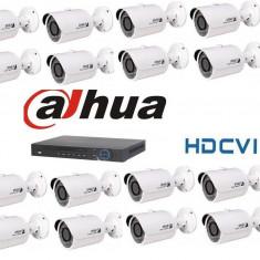 Kit Supraveghere Video 1Megapixel Exterior HD-CVI Dahua S3