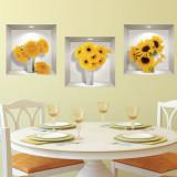 Sticker Decor Interior 3D Floarea Soarelui