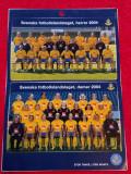 Foto (stickere) - echipa Feminina si echipa Masculina de Fotbal a SUEDIEI (2004)