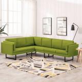 Canapea de colț, verde, material textil, vidaXL