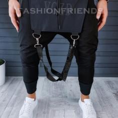 Pantaloni de trening negri - VAGABOND - A8855
