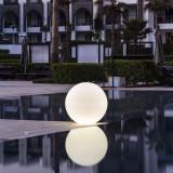 Lumina ambientala, Glob, LED RGB, diametru 12 cm, IP68, telecomanda
