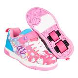 Heelys Dual Up X2 Neon Pink/Cyan/Purple Unicorn, 31 - 35