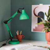 Lampa pentru birou, stil Arhitectural, Reglabila, 55 cm, Verde, AMA