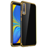 Husa SAMSUNG Galaxy A7 2018 - Plating Soft (Auriu)