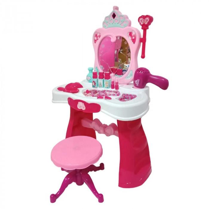 Masuta toaleta pentru fetite Dresser, sertar, scaunel si accesorii incluse