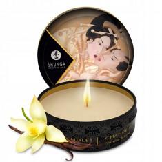 Mini lumanare de masaj si ambient SHUNGA, cu aroma de vanilie, 30 ml