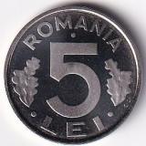 Romania 5 Lei 2003 -Proof, 21 mm KM-114 UNC !!!