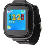 Ceas Smartwatch cu GPS Copii iUni Q80, Telefon incorporat, Buton SOS, Bluetooth, Negru