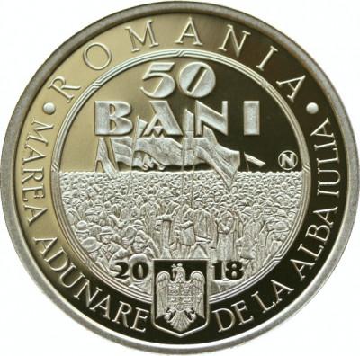 50 bani 100 de ani de la Marea Unire de la 1 Decembrie 1918 foto