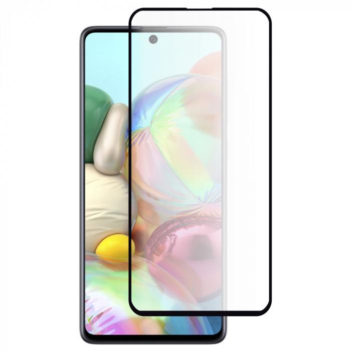 Folie Sticla Roar pentru Samsung Galaxy A71, 5D, Full Cover (acopera tot ecranul), Full Glue, Negru