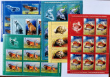 ROMANIA 2009 Fauna protejata - Minicoli de 8 timbre + vigneta MNH - LP 1841 b, Nestampilat