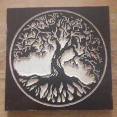 "Gravura pe lemn ""Copacul vietii"" tree of life"