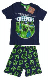 Pijama Minecraft ORIGINAL Creeper 5-6 sau 9-10 ani + Bratara Minecraft CADOU !!, YM, YXS