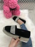 Pantofi espadrile dama negri marime  36+CADOU, Din imagine