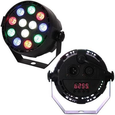 Proiector mini PAR LED RGBX, 12 x 1 W, LED, 7 canale foto