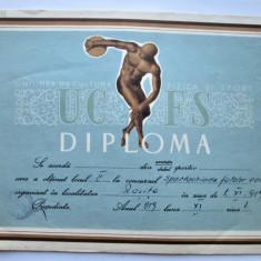 Diploma veche, perioada comunista: Spartachiada Fetelor, Volei - Resita 1959