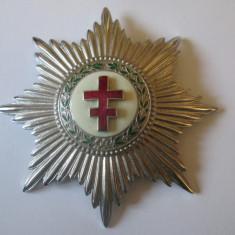 Rar! Ordinul francez Crucea de Lorraine/Lorena,dimensiuni=85 x 60 mm