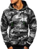 Bluză cu glugă pentru bărbat camuflaj-gri Bolf TR15